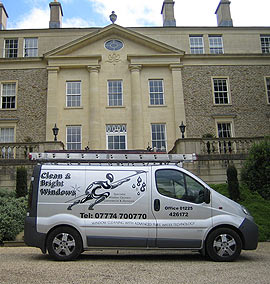 Window cleaning van-Clean and Bright windows